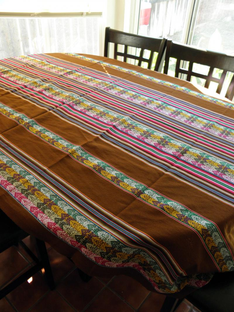 Brown Cotton Table