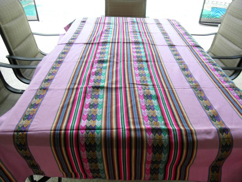 Cloth Table Cover 80 X 47 Inches   PINK